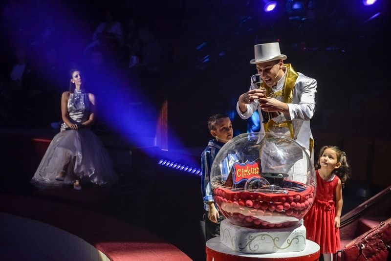 Magic Bubbles for Christmas at the Circus of Budapest