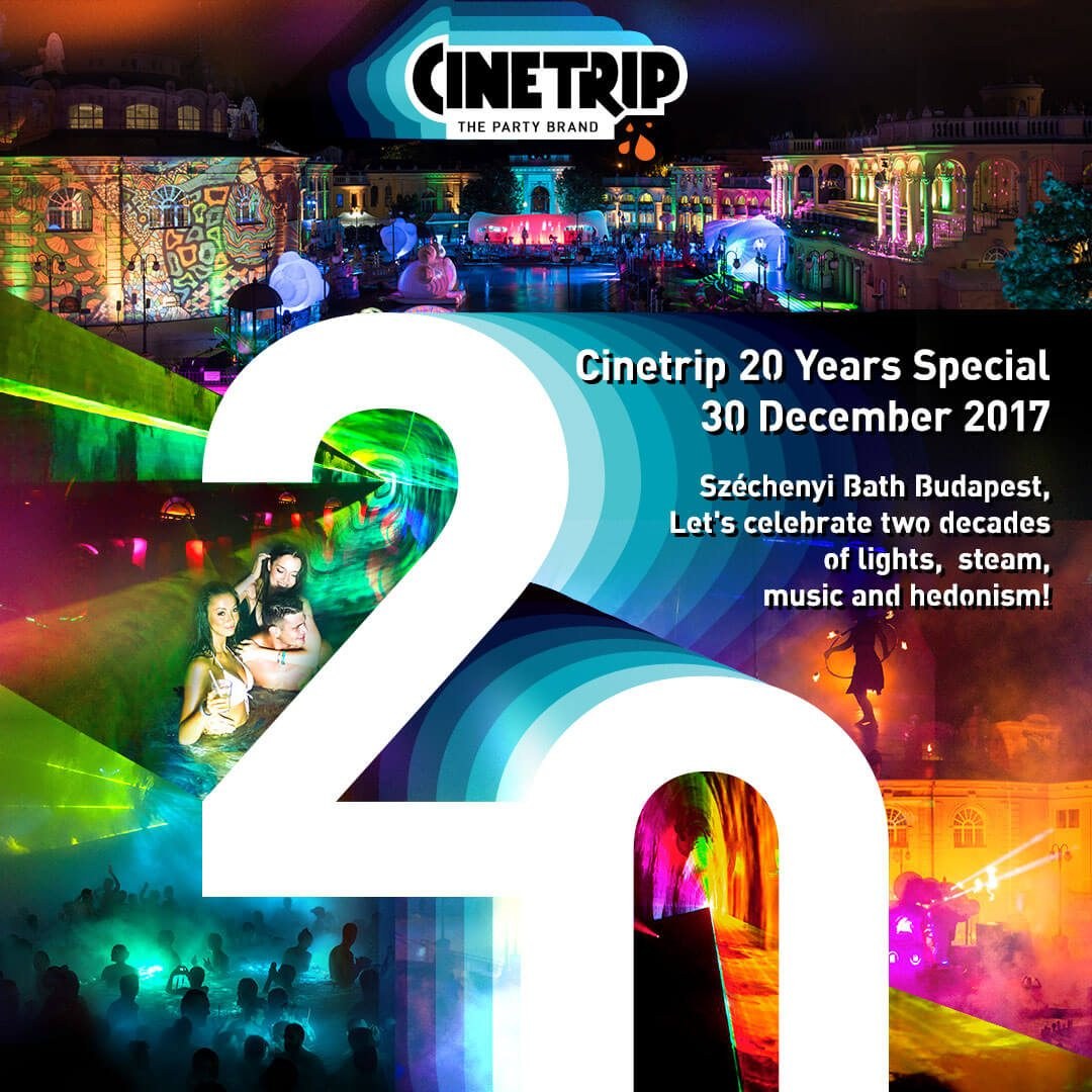 The best PRE-NYE Bath Party in Budapest: Cinetrip 20 Years Special